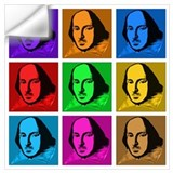 Shakespeare pop art Wall Decals