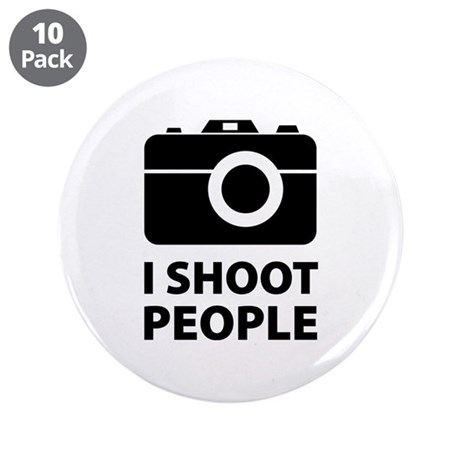 """I Shoot People 3.5"""" Button (10 pack)"""