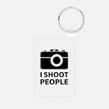 I Shoot People Keychains