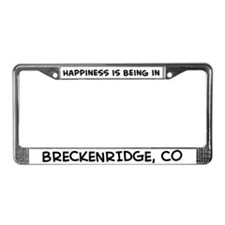 Happiness is Breckenridge License Plate Frame