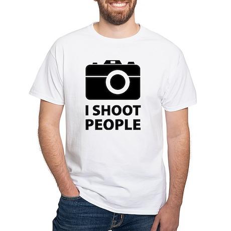 I Shoot People White T-Shirt