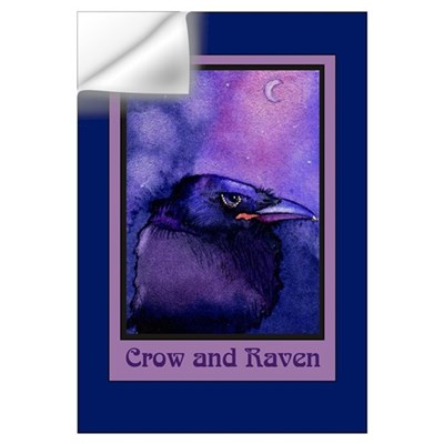 Night Crow Raven & Moon Wall Decal