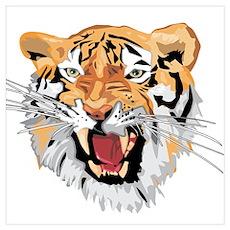 Facial shot of Tiger Poster