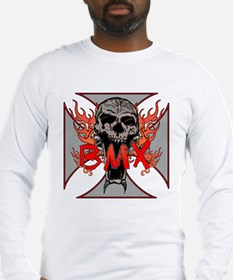 BMX skull 5 Long Sleeve T-Shirt