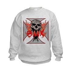 BMX skull 5 Sweatshirt