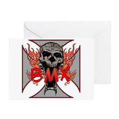 BMX skull 5 Greeting Cards (Pk of 10)