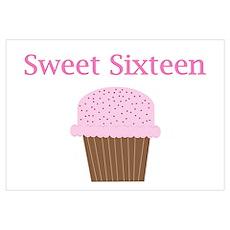 Sweet Sixteen Cupcake Poster