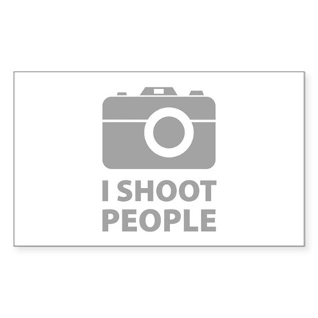I Shoot People Sticker (Rectangle)