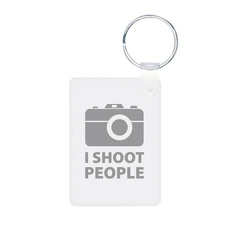 I Shoot People Aluminum Photo Keychain