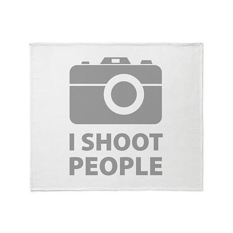 I Shoot People Throw Blanket