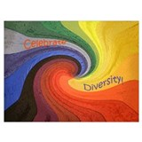 Celebrate diversity Wrapped Canvas Art