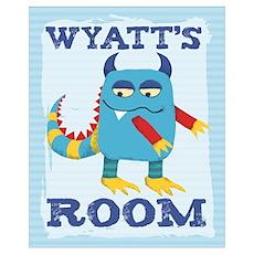 Wyatt's ROOM Mallow Monster Poster