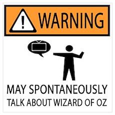 Spontaneously Talk Wizard of Oz Poster
