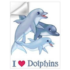 Dolphin Family and Text Wall Decal