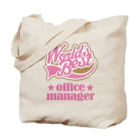 Office Manager (Worlds Best) Gift Tote Bag