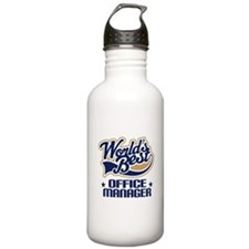 Office Manager (Worlds Best) Gift Water Bottle