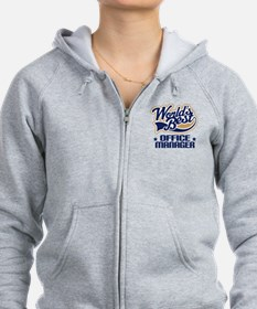 Office Manager (Worlds Best) Gift Zip Hoodie