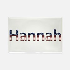 Hannah Stars and Stripes Rectangle Magnet