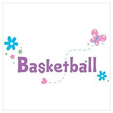 Garden Flutter Basketball Poster