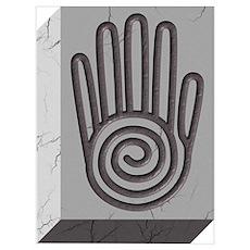 Ahimsa hand symbol Poster