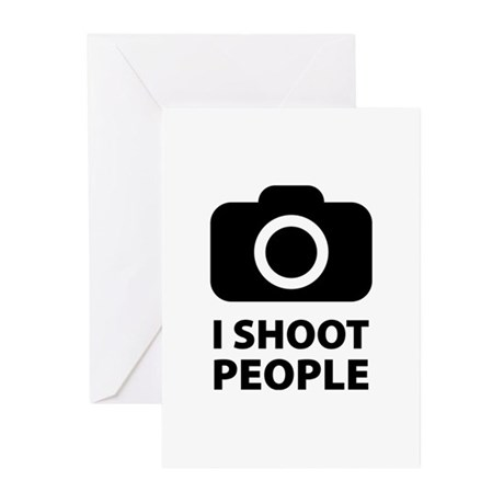 I Shoot People Greeting Cards (Pk of 20)