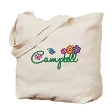 Campbell Flowers Tote Bag