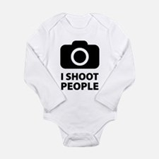I Shoot People Long Sleeve Infant Bodysuit