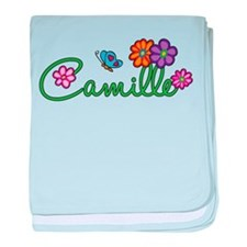Camille Flowers baby blanket