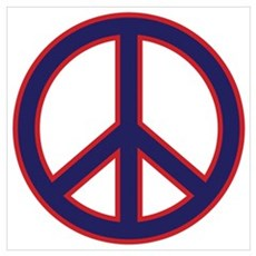 Red & Blue Peace Poster