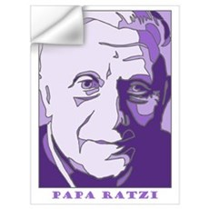 Papa Ratzi New Pope Benedict Purple Pr Wall Decal