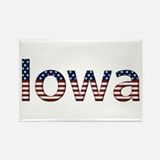 Iowa Stars and Stripes Rectangle Magnet