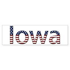 Iowa Stars and Stripes Bumper Bumper Bumper Sticker