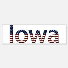 Iowa Stars and Stripes Bumper Bumper Bumper Sticker
