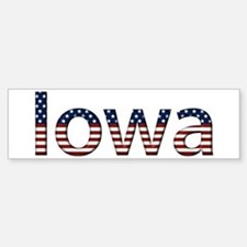 Iowa Stars and Stripes Bumper Stickers