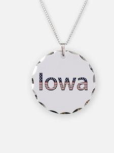 Iowa Stars and Stripes Necklace