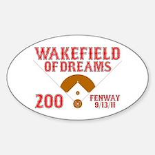 Wakefield Of Dreams # 200 Decal