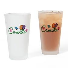 Camilla Flowers Drinking Glass