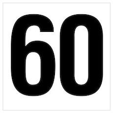Number 60 Helvetica Poster