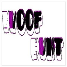 WOOF HUNT_purple/white/blk Poster
