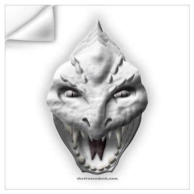 White Dragon Head Wall Decal
