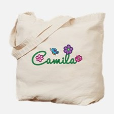 Camila Flowers Tote Bag