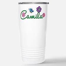 Camila Flowers Travel Mug