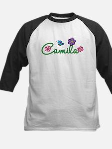 Camila Flowers Kids Baseball Jersey