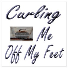 Curling Swept Me Off My Feet Canvas Art