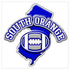 South Orange Football Poster