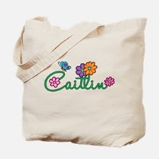 Caitlin Flowers Tote Bag