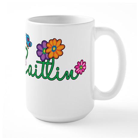 Caitlin Flowers Large Mug