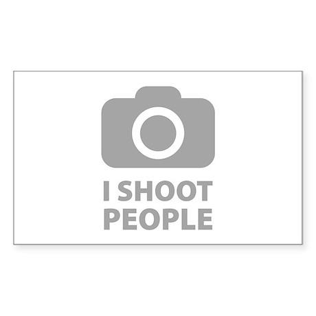 I Shoot People Sticker (Rectangle)
