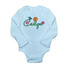 Cailyn Flowers Long Sleeve Infant Bodysuit