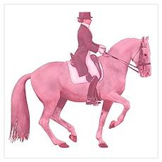 Pink Dressage Horse Poster
